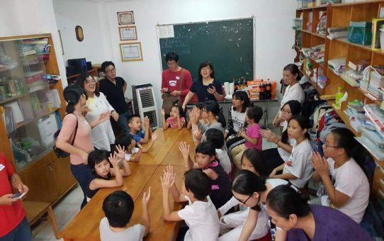 Singing Christmas carols at Sunrise Girls shelter